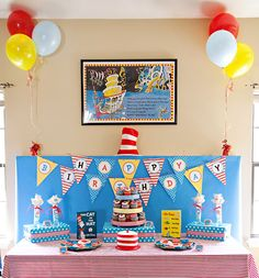 Dr. Seuss birthday party...