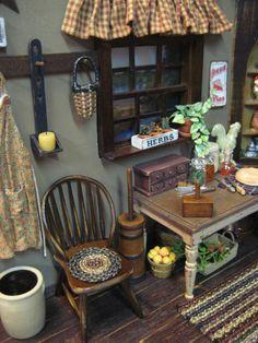 rustic mini kitchen