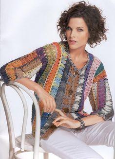 Hairpin Crochet Cardigan