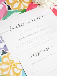 Wedding Invitations with Big Script - Flowing Script Wedding Invitations