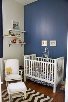 Classic #blue #nursery- add your personal style to make it unique.