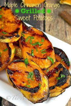 Maple Cinnamon Orange Sweet Potatoes | bakeatmidnite.com | #sweetpotatoes #sidedishes #healthyrecipes