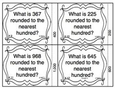 Your students will have a blast rounding numbers with these self checking 3rd grade Common Core task cards! This is a great way to review 3.NBT.1. $1.50