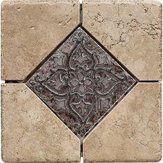 Del Conca 6-in x 6-in Rialto Noce Thru Body Porcelain Square Accent Tile