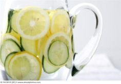 Sassy water is a good way to detox and get lots of water throughout the day!