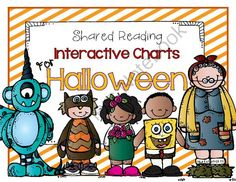 Halloween Shared Reading Interactive Charts from Seejaneteachmultiage on TeachersNotebook.com (72 pages)  - Shared Reading pocket chart poems and activities. Halloween themed.