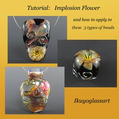 Tutorial: Implosion Flowers and how to apply to 3 types of beads. $25.00, via Etsy.