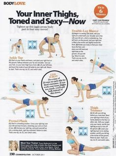 lean inner thigh workout, fit, bodi, thighs, exercise inner thigh