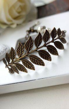 vintage inspired branch bracelet