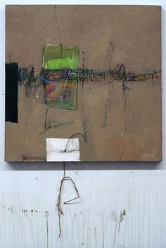 """nother tangles reworked    20""""x20"""", mixed media on canvas, 2007."""