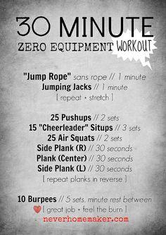 30 Minute Zero Equipment Workout