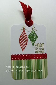 Stampin Up ornament stamps and tags til christmas stamp