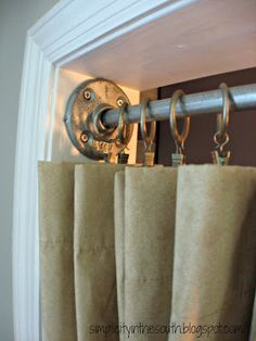 How to make a galvanized curtain rod from plumbing parts