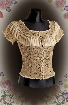 #Blouse - Crochet Pattern  crochet jacket #2dayslook #crochetfashionjacket   www.2dayslook.com