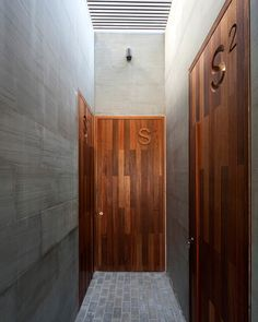 *architecture, design, modern interiors, doors, corridors, wood and cement* - S Cube Chalet by AGi Architects