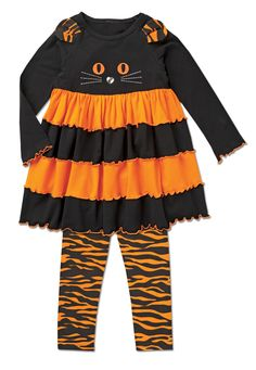 Tiered Cat Tunic Set at CWDkids