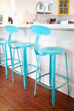 turquoise barstools | Jane Coslick