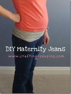 DIY Maternity Jeans
