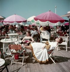 Deauville, on the boardwalk. 1951