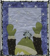 """Snowflake Catcher Pattern and Snowflake Buttons by Patchabilities at KayeWood.com. 12"""" x 14"""" Includes Buttons. http://www.kayewood.com/item/Snowflake_Catcher/3719 $12.00"""