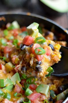 One Pot Cheesy Chicken Taco Rice. 30 minute meal.