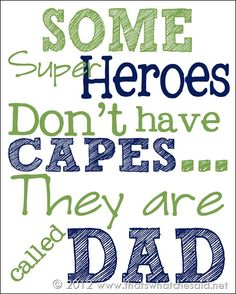 Father's Day Printable-Cape 8 x 10.  Print and put in a frame.  Super easy and cheap.