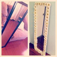 My old black mirror turned to hippie flower mirror