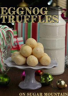 Creamy Eggnog Truffles