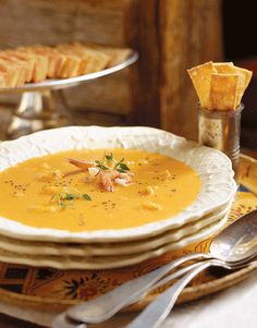 Ginger Pumpkin Soup- This creamy, warm soup transforms one of the fall season's staples into a rich first course.