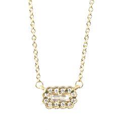 Mosaic Baguette Necklace