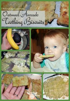 Oatmeal Avocado Teething Biscuits - thecrunchymoose.com