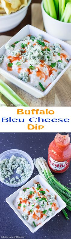 Super EASY Buffalo Bleu Cheese Dip! It was a HUGE hit at our party!