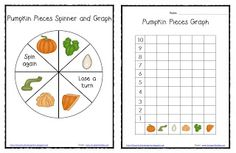 *Lil Country Kindergarten*: Pumpkin Pieces Spinner and Graph FREEBIE