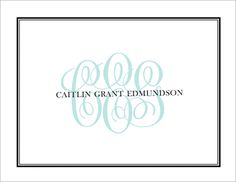 Tailored Monogram Fo