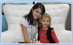 Ella, 7, wished to meet Selena Gomez.