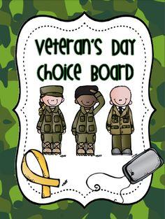 FREE Veteran's Day Choice Board