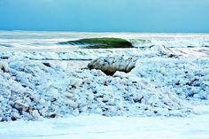 Ice Waves Lake Michigan
