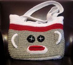sock monkey bag @summerbrodbeck