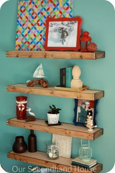 DIY floating shelves wood