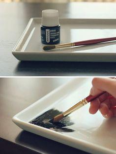 diy: chalkboard serving platter