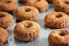 This cinnamon baked donuts recipe is gluten-free and so divinely delicious. Better yet: there are no simple white sugars or flours. Enjoy!