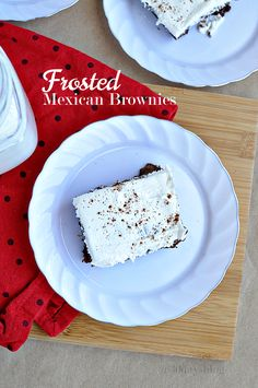 Amazing Frosted Mexican Brownies- start with a boxed mix, added some simple ingredients and frosting on top.  Yum!! #McCormickBakeSale
