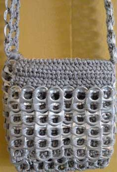 recycled can tab pouch