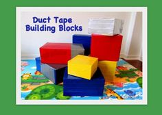 duct tape blocks and many more toddler activities