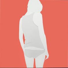 Natasha Law Over Her Shoulders, 2013 Gloss paint on aluminium 49 x 49 in / 125 x 125 cm