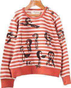 Birds Pocket Sweatshirt
