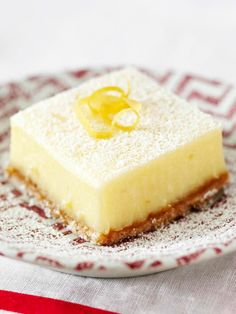Creamy Lemon Squares — Lemon, show us your sunny pop of color and your intense burst of flavor. Where would we, and these better-for-you creamy squares, be without you?
