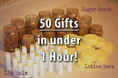 Merry Christmas to one and all!  Make 50 Homemade Gifts in under an Hour