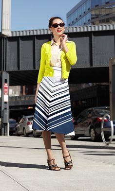 {Crosswalk Skirt} by Shabby Apple - oh, chevron love! :)