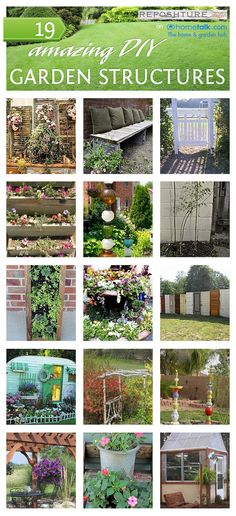 19 amazing DIY garden structures.